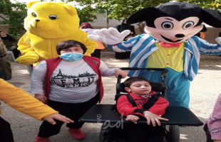 الهلال الأحمر في أريحا يقيم يوم مرح وترفيه للأطفال والطلبة ذوي الإعاقة