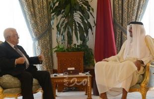 """أمير قطر يؤكد لـ""""عباس"""" موقف الدوحة الداعم للشعب الفلسطيني"""