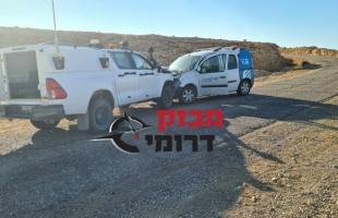 إصابة (4) جنود من جيش الاحتلال في حادث سير قرب الحدود المصرية