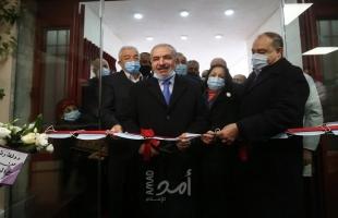 """اشتية يفتتح مستشفى الهلال الأحمر المخصص لعلاج """"كورونا"""" في نابلس"""