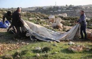 قوات الاحتلال تخطر بإخلاء 5 عائلات في مسافر يطا جنوب الخليل