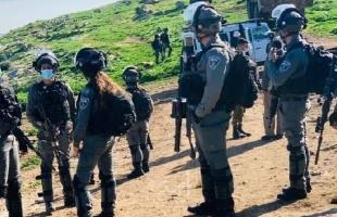 """قوات الاحتلال تهدم """"آبار مياه"""" في بلدة المغير شرق رام الله- صور"""