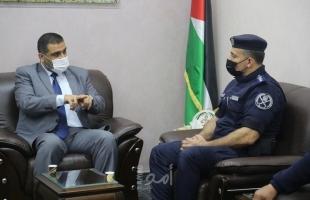 النائب العام يستقبل مدير عام وضباط الادارة العامة لشرطة المرور بغزة