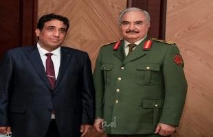 حفتر يؤكد للمنفي دعم الحكومة الجديدة والتداول السلمي للسلطات