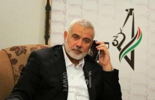 هنية: ملتزمون بتشكيل حكومة وحدة وطنية مع حركة فتح وباقي الفصائل الفلسطينية