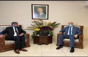 عبد الهادي يطلع نائب وزير الخارجية السوري على التطورات الفلسطينية