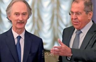 لافروف وبيدرسن يبحثان قضايا تسوية الأزمة في سوريا
