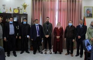 """""""جامعة الأقصى"""" تستقبل وفداً من المكتب الوطني لإعادة إعمار غزة"""