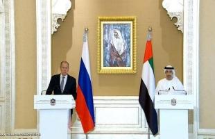 لافروف: نرحب بتطبيع الدول العربية مع إسرائيل وبن زايد يطالب بعودة سوريا للعمل المشترك
