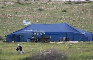 بيت لحم: مستوطنون يعيدون نصب خيمتين في تقوع