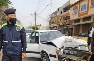 (3) إصابات بحادث سير وسط قطاع غزة