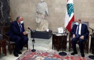 شكري يلتقي قادة لبنان لحل عقدة الحكومة ويؤكد استمرار مصر  بالحوار  للخروج من الأزمة