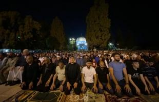 القدس: (60) ألف أدوا صلاة التراويح في المسجد الأقصى