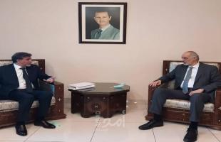 عبد الهادي يطلع نائب وزير الخارجية السوري على آخر التطورات في فلسطين