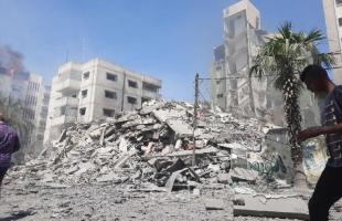 """معروف يكشف أسماء المقرات الحكومية التي قصفتها طائرات الاحتلال فجر """"الأحد"""" بغزة"""