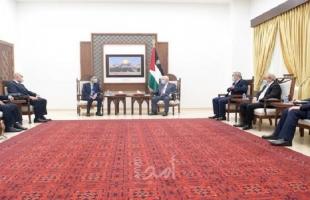 تفاصيل اجتماع الرئيس عباس بالوفد الأمني المصري