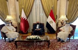 اتفاق مصري قطري على تطوير العلاقات الثنائية بين البلدين