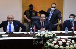 اللواء عباس كامل يتفقد المواقع المقترحة للبدء في إعادة إعمار قطاع غزة