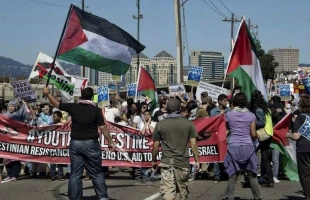"""تظاهرة لمنع سفينة إسرائيلية من تفريغ حمولتها في """"ميناء نيوجرسي"""" الأمريكي"""
