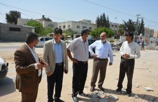 المدير العام لمصلحة مياه بلديات الساحل يجري زيارة لمحافظة شمال قطاع غزة - صور