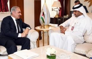 اشتية يبحث مع مدير عام صندوق قطر للتنمية دعم العديد من المشاريع التنموية