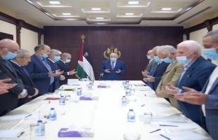 في أول مشاركة لحسين الشيخ.. عباس يترأس اجتماع اللجنة التنفيذية