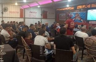 مشجعي الأهلي بغزة يفروح لفوزه على الترجي