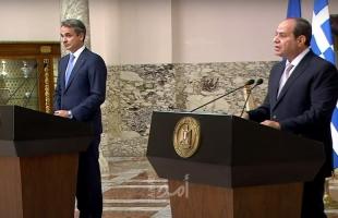 السيسي ورئيس الوزراء اليوناني يؤكدان ضرورة إعادة الطرفين الفلسطيني والإسرائيلي إلى المفاوضات