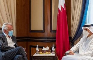 اجتماع  منسق الأمم المتحدة ووزير خارجية قطر لبحث آلية توصيل المساعدات للشعب الفلسطيني