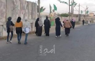 """سيدات يطلقن مبادرة """"رياضية المشي"""" لمسافات طويلة وسط قطاع غزة- صور"""