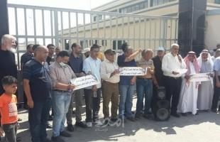 غزة: محتجون من البريج يغلقون محطة المعالجة احتجاحًا لعدم الاستجابة لمطالبهم
