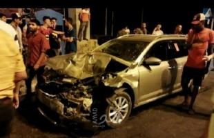 إصابتان في حادث سير وسط قطاع غزة- صور