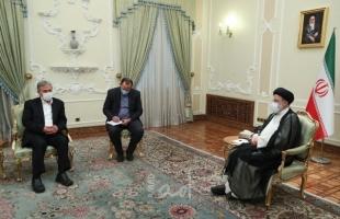 """هنية والنخالة يلتقيان الرئيس الإيراني الجديد """"إبراهيم رئيسي"""""""