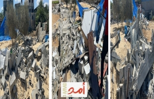 """""""حسام بريكة"""" يكشف عبر """"أمد"""" عن هدم منزله في رفح  """"خاوة""""- فيديو وصور"""