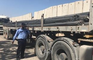غزة: إدخال حديد البناء عبر كرم أبو سالم