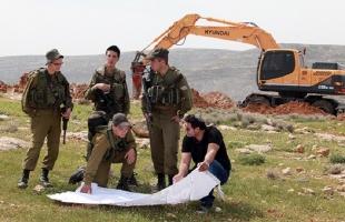 """إصابة مواطن في """"اللبن الشرقية"""" وجيش الاحتلال يواصل عمليات التجريف في أراضي """"الساوية"""" جنوب نابلس"""