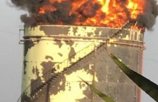 اندلاع حريق هائل في إحدى منشآت النفقط الإيرانية في لبنان- فيديو