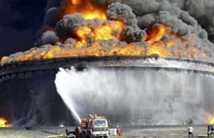 انفجار صهريج غاز سبب حريق كبير قرب الحدود الإيرانية الأفغانية