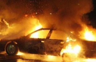 حريق في مشطب سيارات جنوب جنين