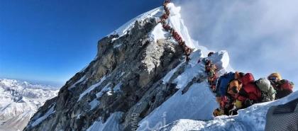 """أول إصابة بـ""""كورونا"""" قرب أعلى قمة في العالم"""