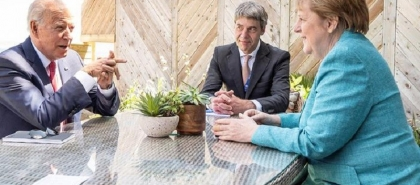 """ميركل: المحادثات مع أمريكا حول نورد ستريم 2 """"في طريق جيد"""""""