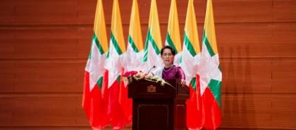 اقتياد زعيمة ميانمار المعتقلة إلى مكان مجهول