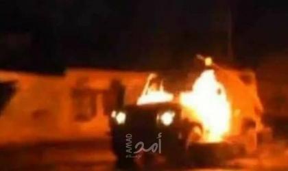 خلال مواجهات عنيفة.. اندلاع النيران في آلية لقوات الاحتلال في العيسوية بالقدس  - فيديو