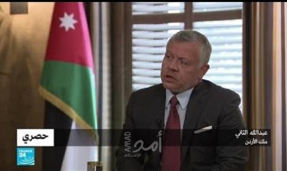 """الملك عبدالله ينتقد عدم توفير إسرائيل لقاحات ضد """"كورونا"""" للفلسطينيين"""