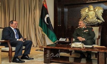 حفتر يشيد بدور الجزائر حيال الأزمة الليبية خلال استقباله وزير خارجيتها بوقادوم