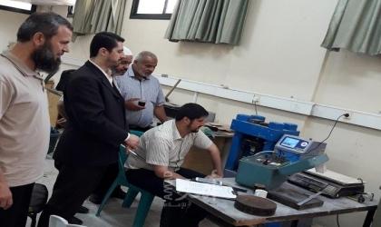أشغال حماس تقوم بزيارات تفقدية لعدد من مختبرات فحص المواد الخرسانية