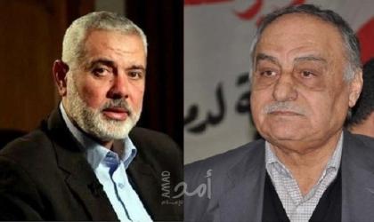 """هنية يهنئ نائب الأمين العام للشعبية """"أبو أحمد فؤاد"""" بعيد الأضحى"""