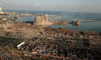 مشاهد جوية تكشف حجم الدمار جراء انفجار مرفأ بيروت- فيديو