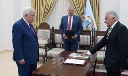 أبو شرار يؤدي اليمين القانونية أمام الرئيس عباس رئيساً لمجلس القضاء الأعلى