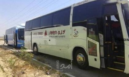 وصول 14 مركبة تجاري وحافلتين إلى غزة عبر معبر إيرز